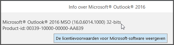 zimbra outlook versie